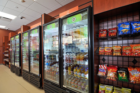market refrigerated door section